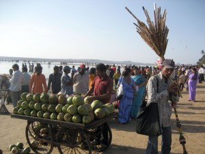 Vendors on Juhu beach.
