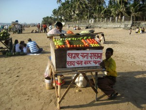 Channa-wala on Juhu beach.