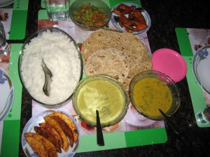 Food served at Honey Pot Homes.