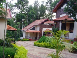 Three cottages at Honey Pot Homes, Coorg.