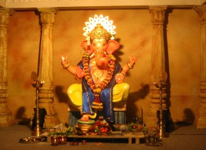 A rather imposing statue of Lord Ganesh.