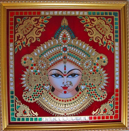 Post image for Handmade Picture of the Mother Goddess Durga