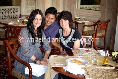 Us in the Rajput Room at the Rambagh Palace.