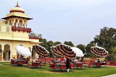 Rambagh Palace garden.
