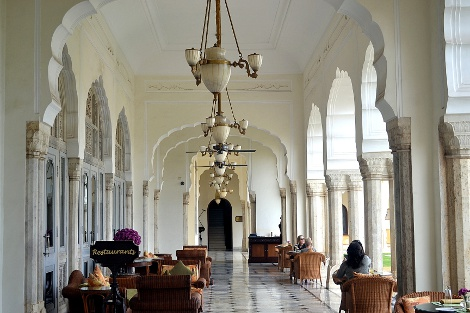 Entrance to the Rajput Room at the Rambagh Palace.
