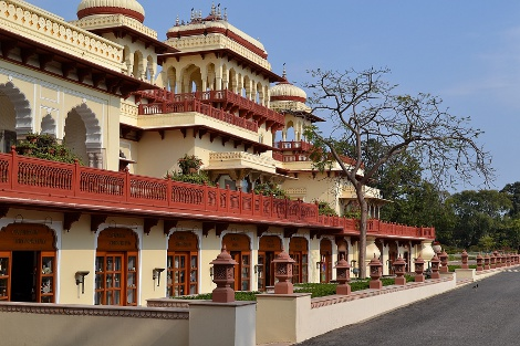 Rambagh Palace exterior.